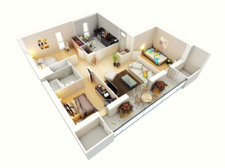 Amazing Attractive Simple House Designs 3 Bedrooms Ideas Also And Floor Simple House Designs 3 Bedrooms Pic