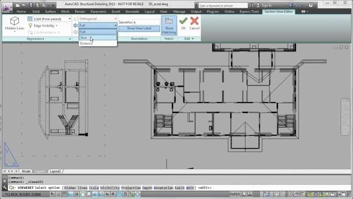 Amazing Autocad 2013 - Section, Elevation And Plan Views From 3D Model - Youtube Plan Section And Elevation Of Houses Autocad Pic