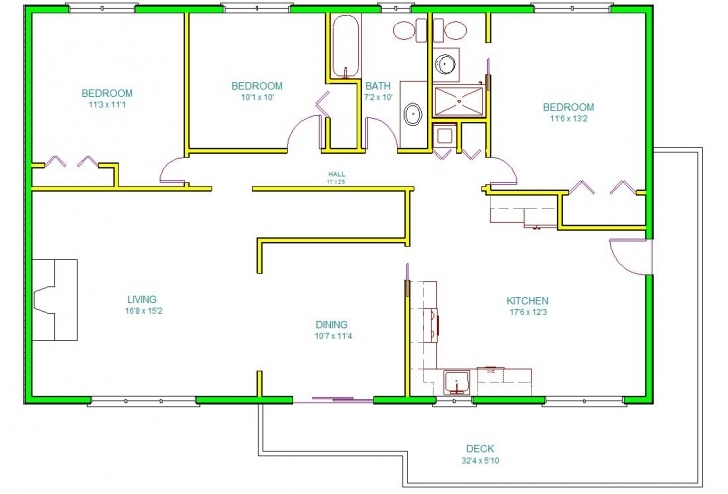 Amazing Autocad House Drawing At Getdrawings | Free For Personal Use Auto Cad 2d Plan Image