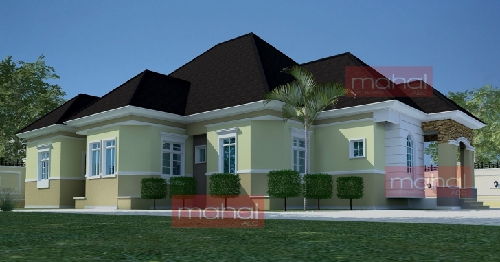 Amazing Contemporary Nigerian Residential Architecture: Festus House: 5 Nigeria House Design Bungalow In Nigeria Image