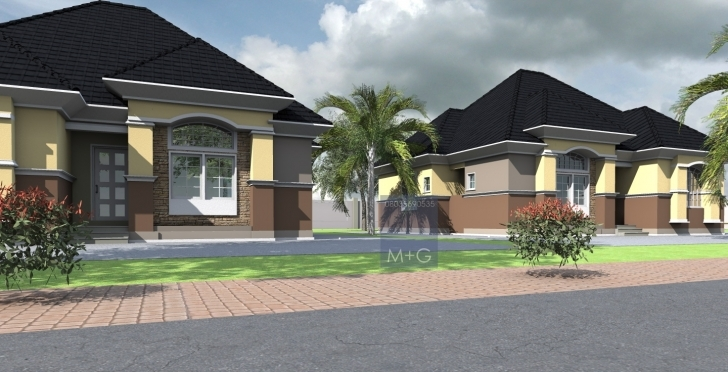 Amazing Contemporary Nigerian Residential Architecture: Luxury 3 Bedroom 3 Bedroom Bungalow House In Nigeria Picture