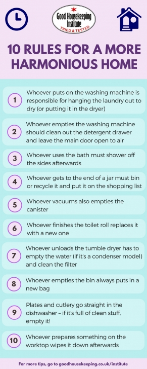 Amazing Home Hacks: Good Housekeeping Rules For A More Organised Home Simple Housekeeping Rules Pic