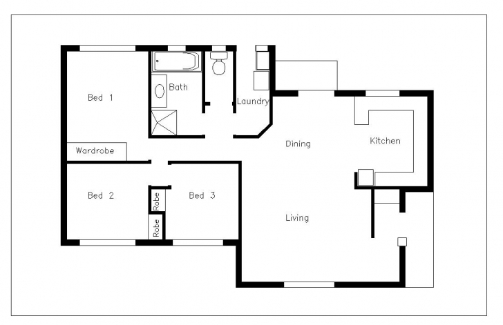 Amazing House Plan Using Autocad Elegant House Plan Glamorous 11 Floor Plan Autocad 2d House Drawings With Dimensions Image
