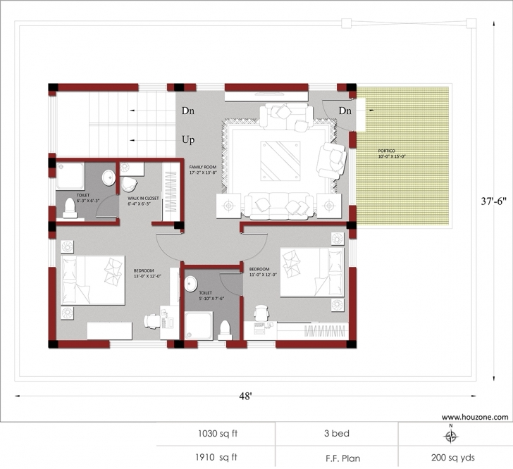 Amazing Indian House Plans For 1500 Square Feet – Houzone Indian House Plans For 1500 Square Feet Image
