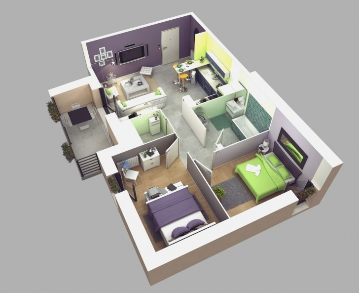 Amazing Modern Bungalow House With D Floor Plans And Firewall Home Beauty 5 Bedroom Modern House Plans 3d Picture