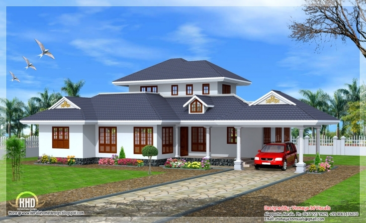 Astonishing Beautiful Kerala Style Single Floor Villa Indian House Plans - House Kerala Style Single Floor House Images Photo