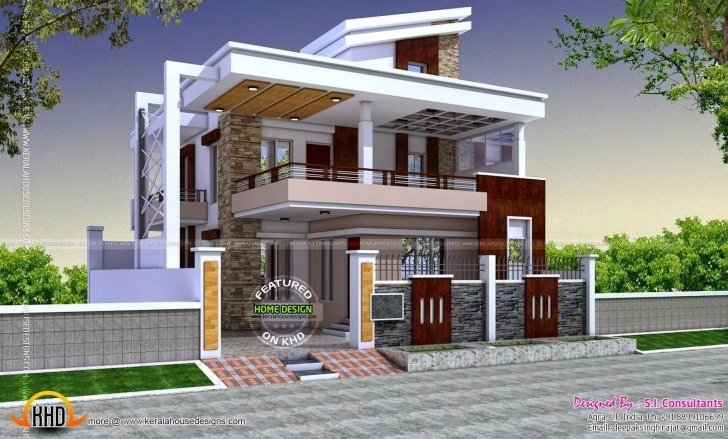 Astonishing Fresh Indian Home Exterior Designs Gallery | Homeideas Indian House Photo Gallery Hd Picture
