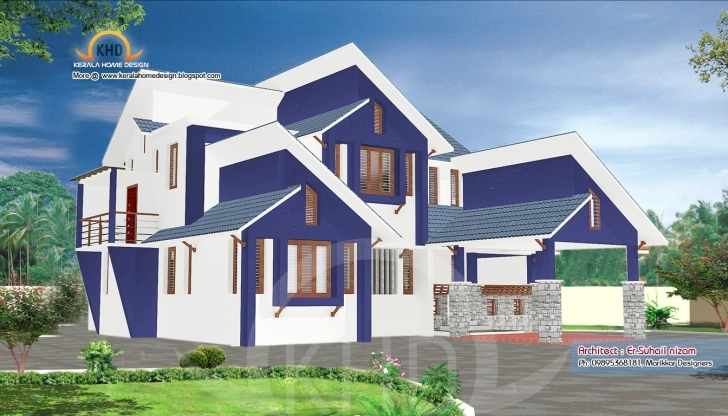 Astonishing Home Plan And Elevation 2302 Sq. Ft   Home Appliance 750 Sq Ft House Elevation Photo