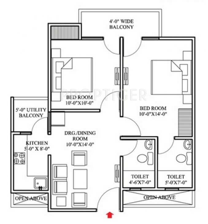 Astonishing House Plan For 800 Sq Ft In Tamilnadu - Bibserver 2bhk Plan With Elevation And Section Picture