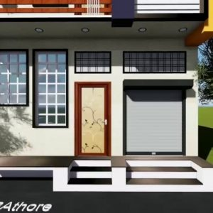 20 Feet Home Front Elevation