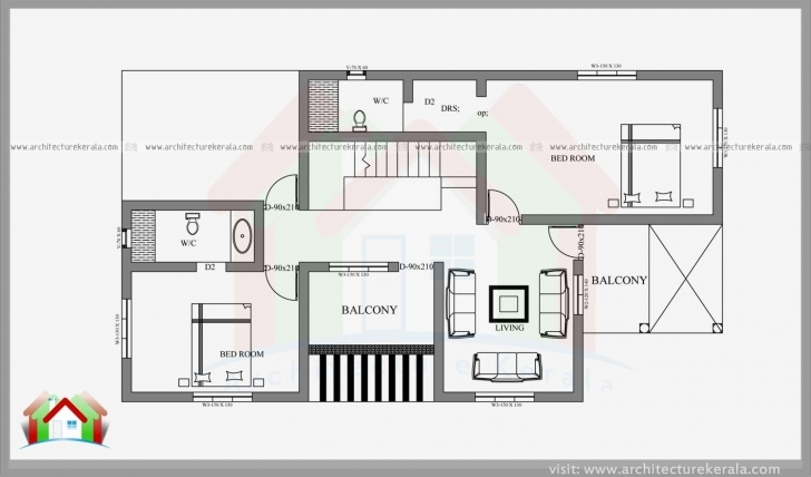 Awesome 2400 Square Feet 4 Bedroom House Plan And Elevation Can Construct In 4 Cent House Plan Pic