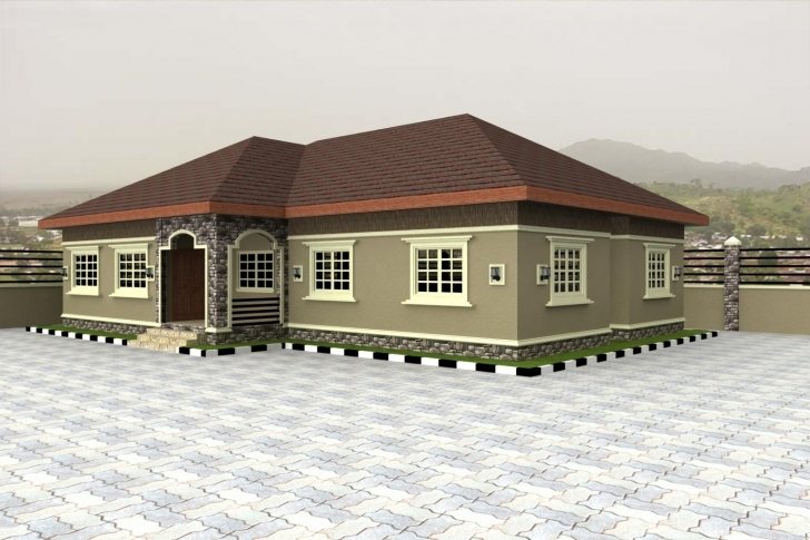 Awesome 4 Bedroom Flat Bungalow Plan In Nigeria | Www.stkittsvilla 3 Bedroom Flat Plan In Nigeria Pic