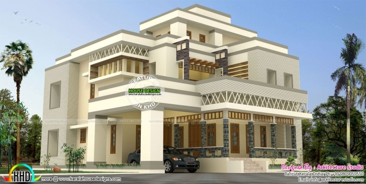Awesome 4850 Sq-Ft Modern And Stylish House Plan | Kerala Home Design Modern Stylish House Plans Pic