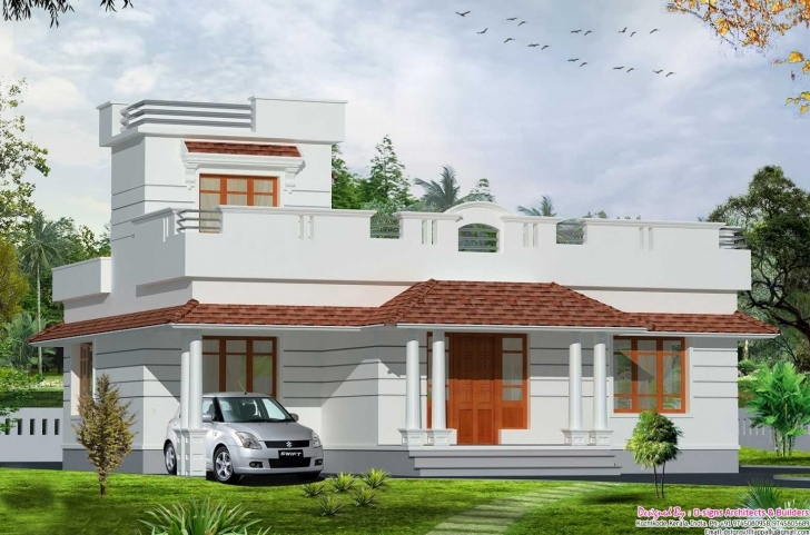 Awesome Front Elevation Of Single Floor House Kerala Drawing 2018 With Single Floor House Front Elevation Designs In Kerala Photo