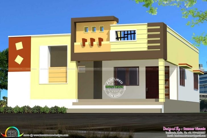 Awesome Front Elevation Of Single Floor House Kerala Pictures Including Single Floor Front Elevation Of House Photo
