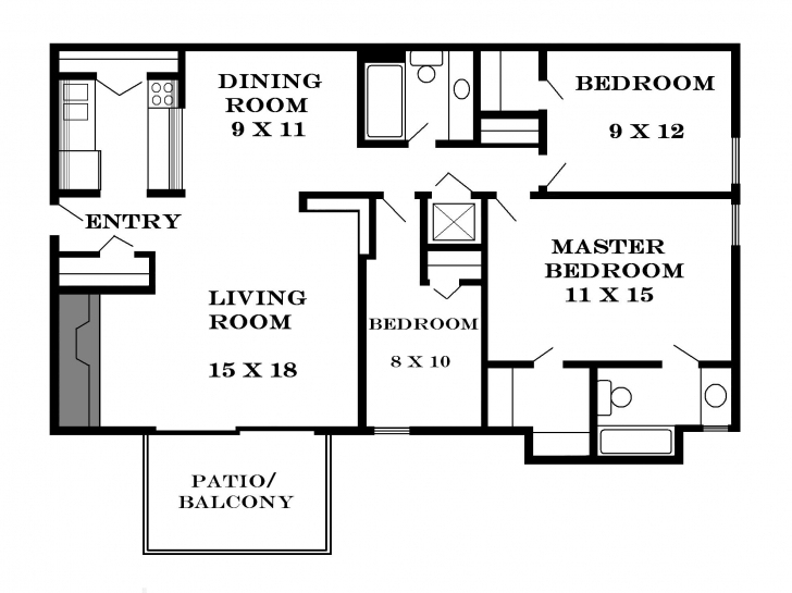 Awesome Home Architecture: Basic For Duplex Guest House Totalaâ· Ideas 3 Bedroom Building Plan Pic