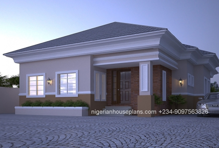 Awesome Home Architecture: One Bedroom Bungalow Floor Plan Admirable Plans House Plans In Nigeria 2 Bedroom Picture