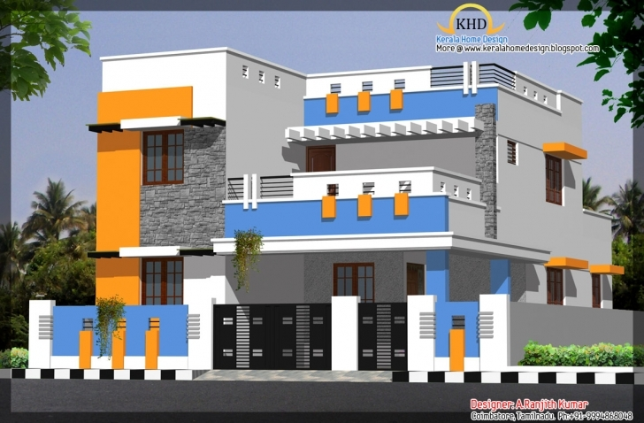 Awesome House Elevations Over Kerala Home Design Floor - Architecture Plans Ground Floor House Elevation Designs In Indian Picture
