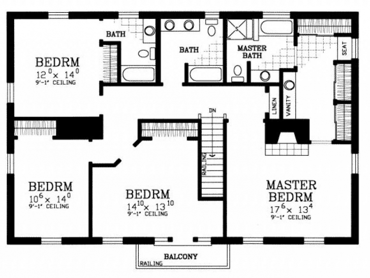 Best Bedroom House Plans For Homes Trends Also Outstanding Simple 4 Home Simple Four Bedroom House Pic