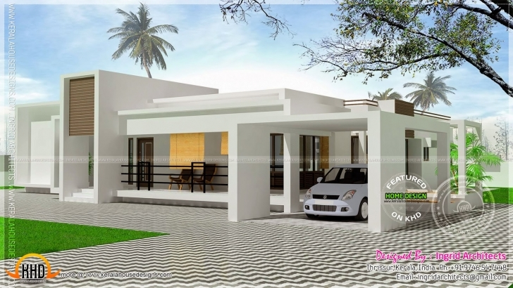 Best Contemporary Single Storied Luxury Home Kerala Design Floor - House Small Contemporary House Plans In Kerala Pic