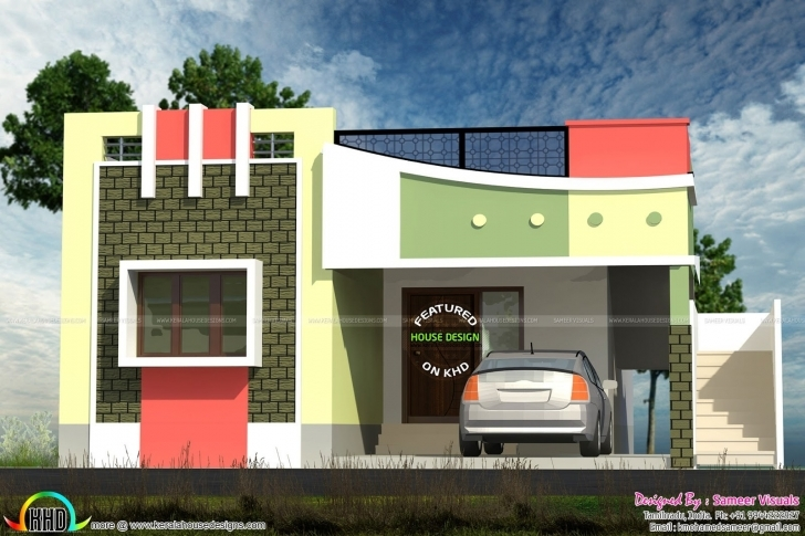 Best Front Elevation Of Small Houses In India | The Best Wallpaper Of The Front Elevation Design For House In India Photo