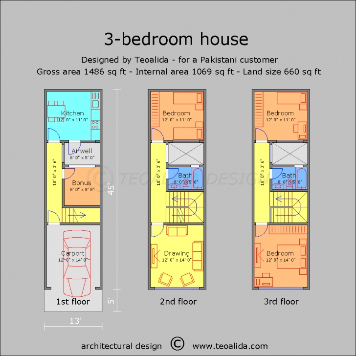 Best House Floor Plans 50-400 Sqm Designed By Teoalida | Teoalida Website 30ft By 35ft Duplex With L Shaped Upper Floor In Nigeria Photo