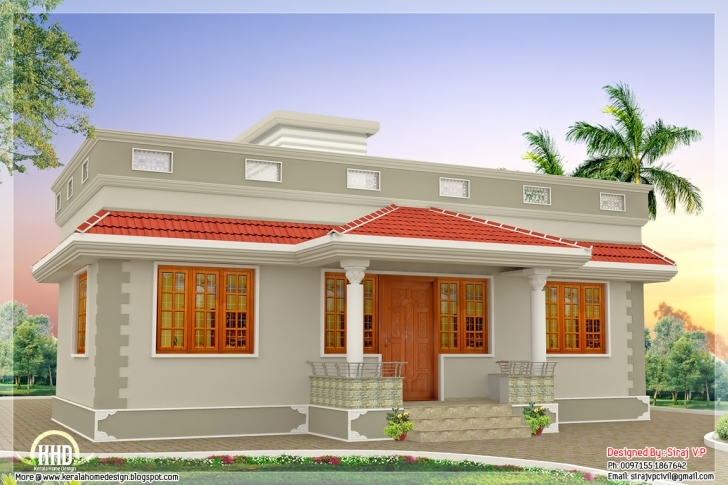 Best Inspirations: Front View Home In 1000Sq Trends And Sqfeet Kerala 1000 Sq Ft Single Floor House Plans In Kerala Photo