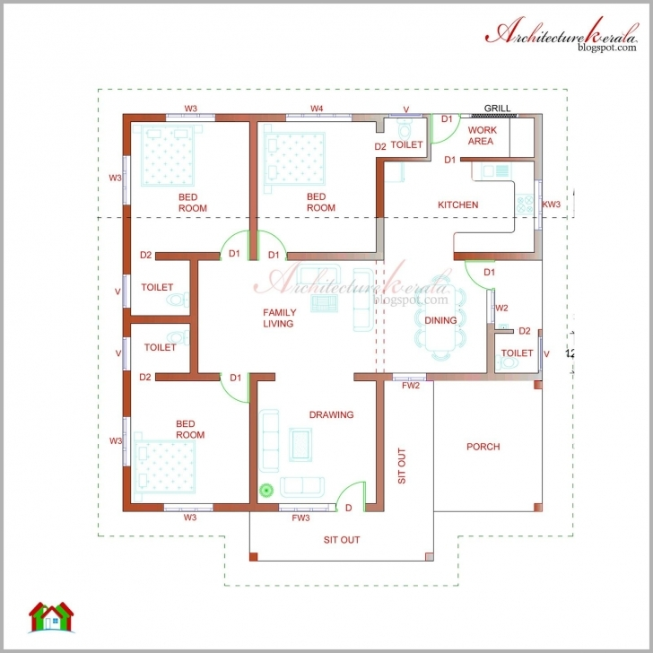 Best Kerala House Plan Photos And Its Elevations, Contemporary Style Small House Design Plan Kerala Style Image