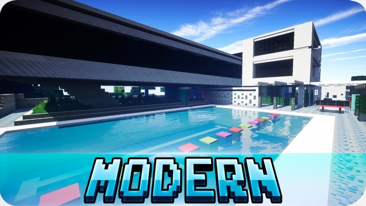 Best Minecraft - Large Modern House - Map With Download - Youtube Map Modern House Minecraft 1.11 Picture
