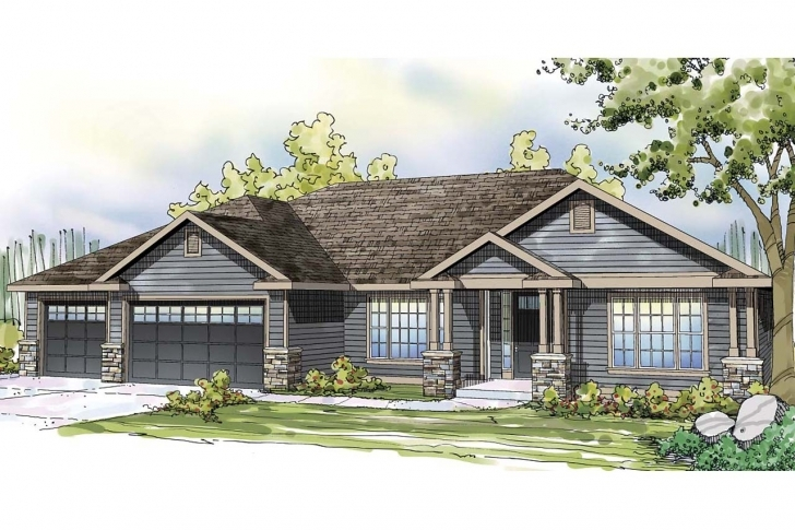 Best Ranch House Plan #108-1745: 3 Bedrm, 2668 Sq Ft Home | Theplancollection 1745 House Plan Pic