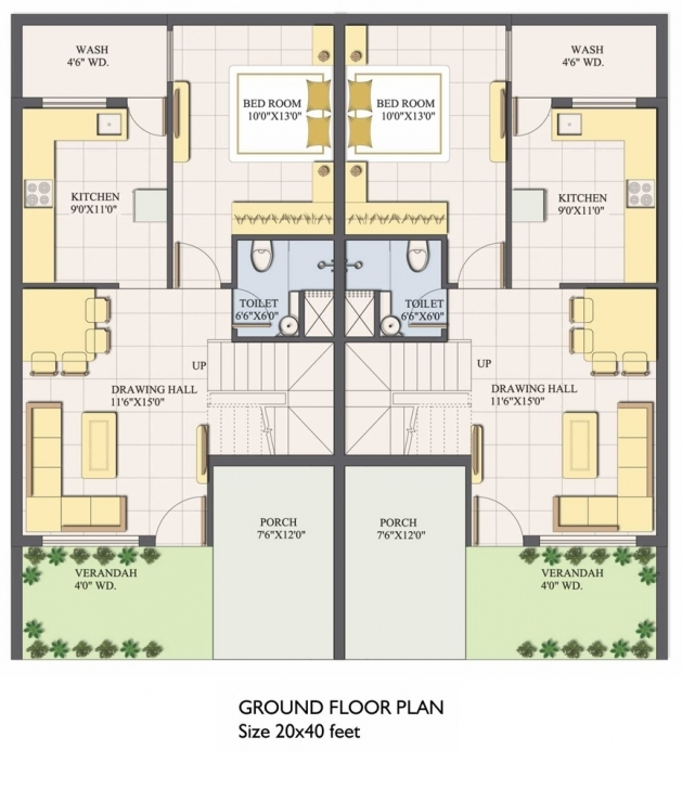 Best Sigma Realty | Quality First 20 X 50 Duplex House Plans Picture