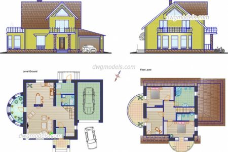 Small Villa Design Dwg