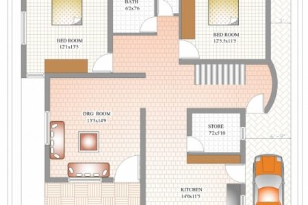 1200 Sq Ft Duplex House Plans Indian Style