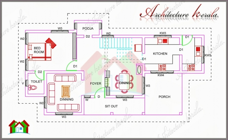 Brilliant 1700 Square Feet House Plan With Pooja Room - Architecture Kerala Kerala Model House Plans 1700 Square Feet Picture