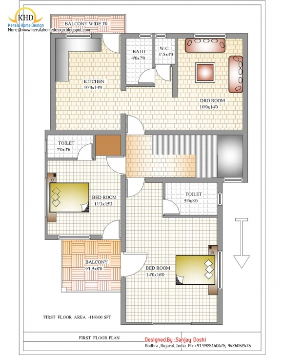 Brilliant 3 Bedroom House Plans India - Homes Floor Plans 3 Bedroom House Plans North Indian Style Photo