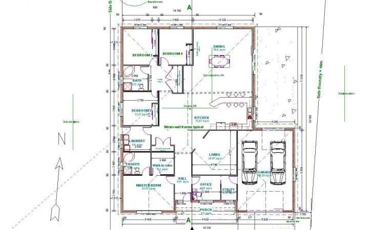 Brilliant Autocad Drawing Samples Drawings Floor Plans House Modeling Tutorial House Plan Sample Autocad Photo