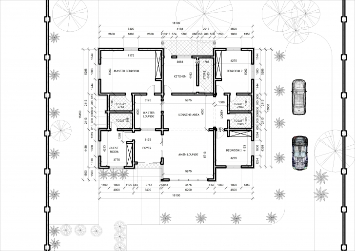 Brilliant Bedroom Bungalow Something Architecture - House Plans | #7180 Drawings And Plans Of Four Bedroom Bungalow Image