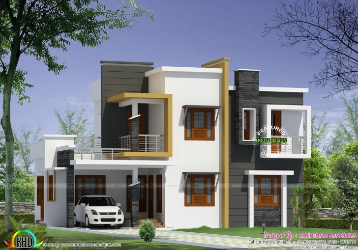 Brilliant Box Type Modern House Plan Kerala Home Design Floor Plans - Building Small Contemporary House Plans In Kerala Pic