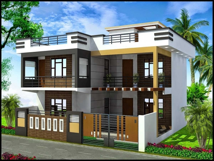 Brilliant Duplex House Front Elevation Collection With Charming Designs Images Duplex House Front Elevation Designs In Chennai Pic