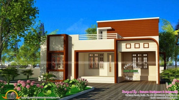 Brilliant Front Elevation Of Single Floor House Kerala 2018 And Enchanting Best Elevations For Single Floor Pic