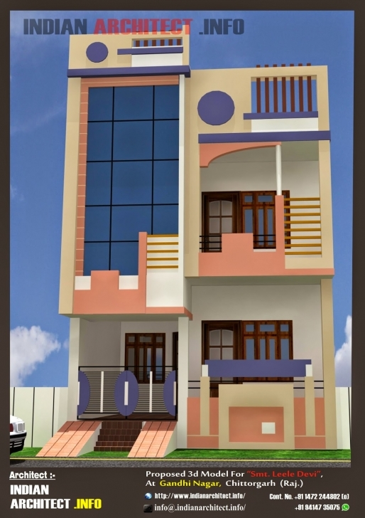 Brilliant Home Idea Blog-Ifi: Home Design 20 50 Front Elevation Of Indian House 30x50 Site Image