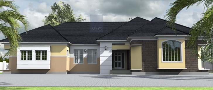 Brilliant House Plans Design Architectural Designs Bedroom Bungalow - House Modern 4 Bedroom House Plans In Nigeria Pic