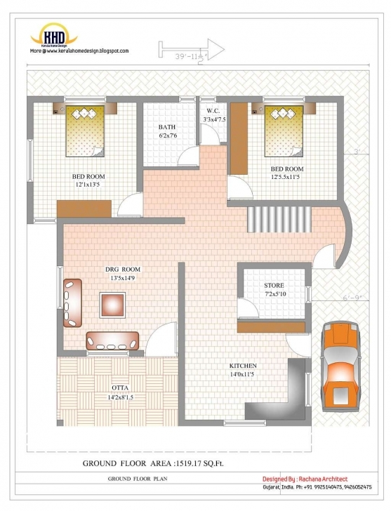 Brilliant Inspirations: 1000 Sq Ft House Plans With Car Parking Inspirations 1000 Sq Ft House Plans 2 Bedroom With Car Parking Photo
