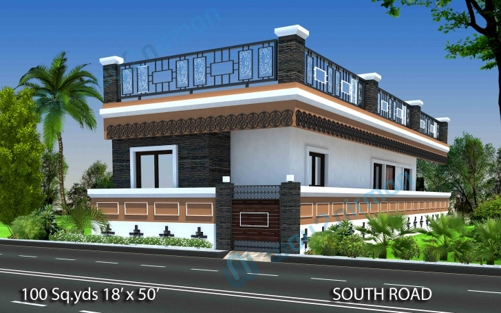 Brilliant Way2Nirman: 100 Sq Yds 18X50 Sq Ft South Face House 2Bhk Elevation 2bhk House Plan And Elevation Picture