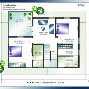 30 X 40 House Plans North Facing 2 Storey House