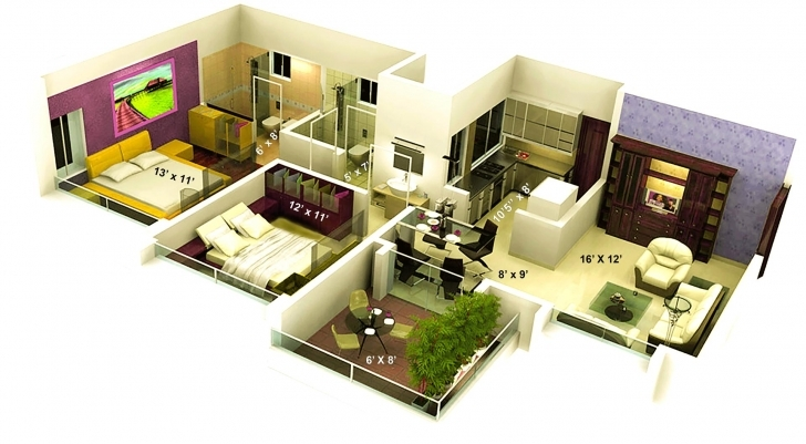 Classy Awesome 1000 Sq Ft House Plans 2 Bedroom Indian Style — House Style Home Design Plans With Photos In India 1000 Sq Image