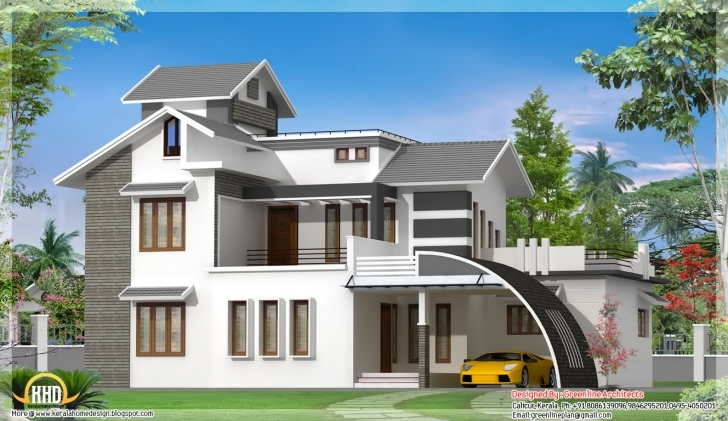 Classy Best Design: Contemporary Indian House Design - 2700 Sq.ft. Best Indian House Design Image