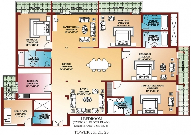 Classy Four Bedroom House (Photos And Video) | Wylielauderhouse Four Bedroom Flat Design Plan Pic