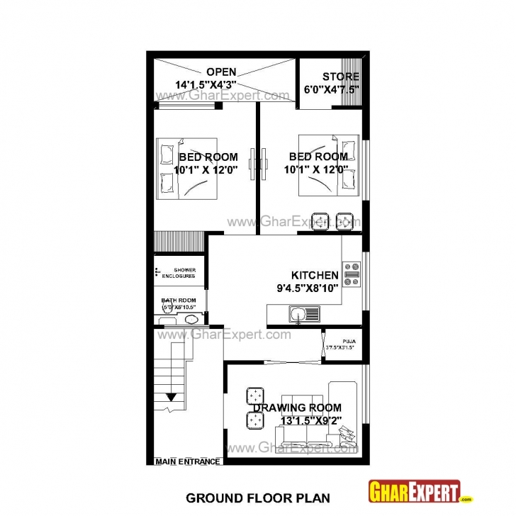 Classy Home Plan 15 X 60 New X House Plans North Facing Plan India Duplex 15 By 45 House Layout Plan Pic