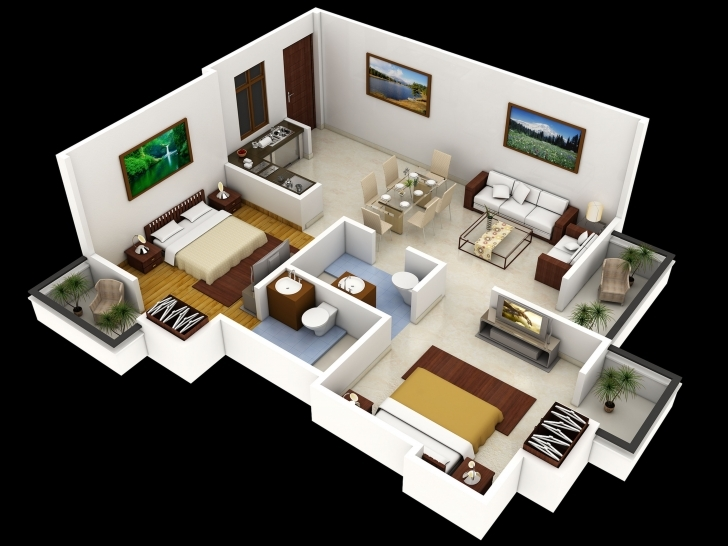 Classy Simple Indian Bed Design - Home Design Jobs 2 Bedroom House Plans Indian Style 3d Pic